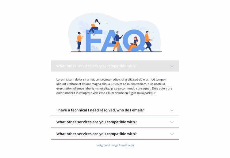 Help with popular problems Website Mockup