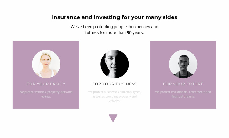 Specialists and their directions Website Template
