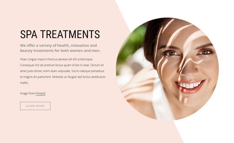 Luxurious spa treatments Html Code Example