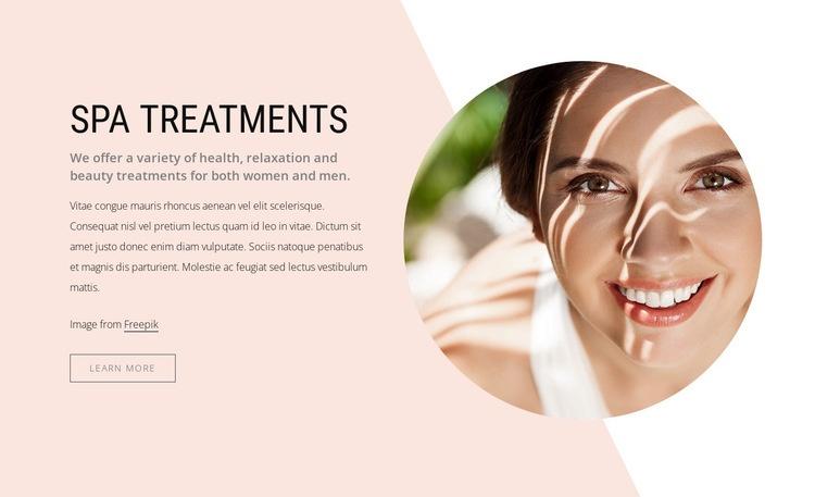 Luxurious spa treatments Web Page Designer