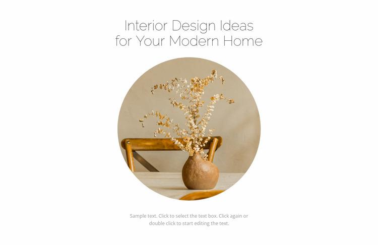 New in the interior Website Mockup