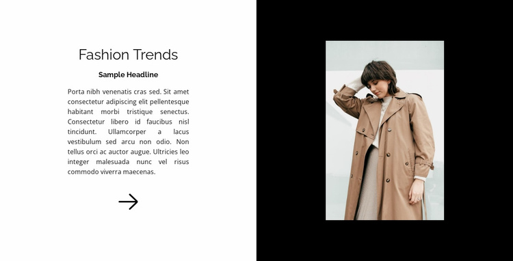 New in fashion Website Template