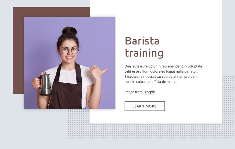 Barista training basics Website Builder Software