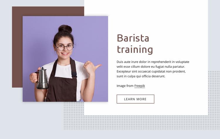 Barista training basics Website Template