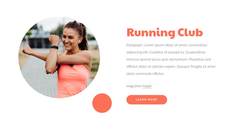 The running community HTML Template