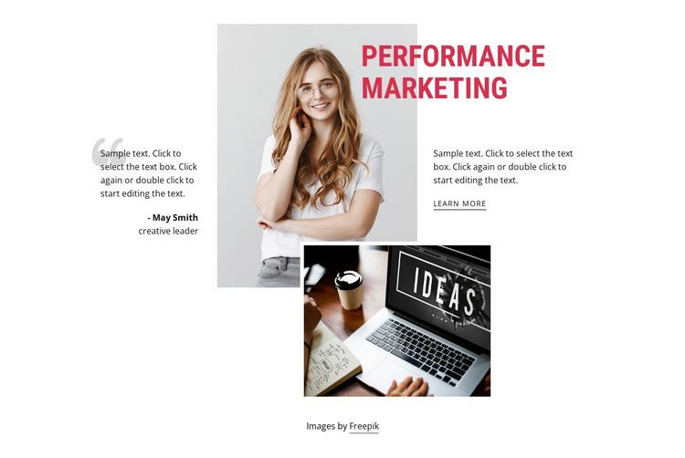 Performance marketing HTML Template