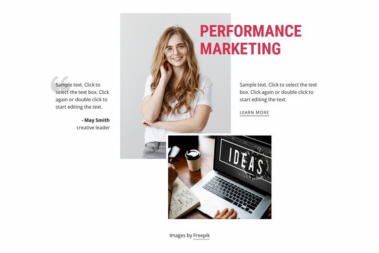 Performance marketing Website Template