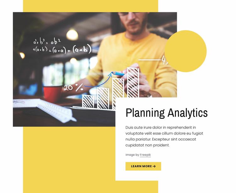 Planning analytics Website Template