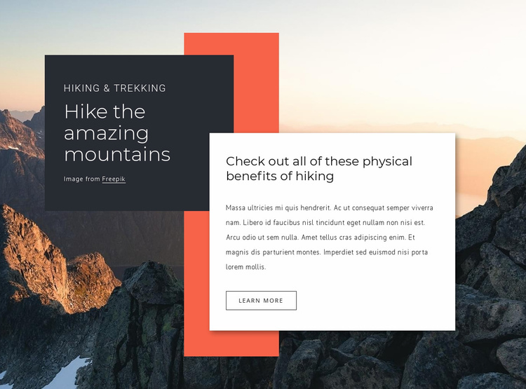 Long hiking trip Website Template