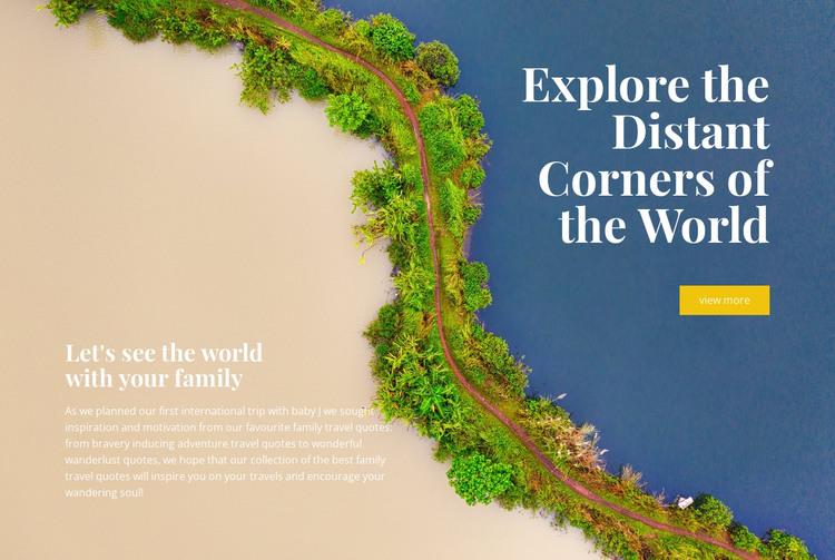 Exotic destinations HTML Template