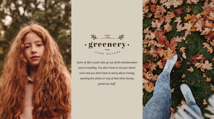 Autumn colors in design WordPress Theme