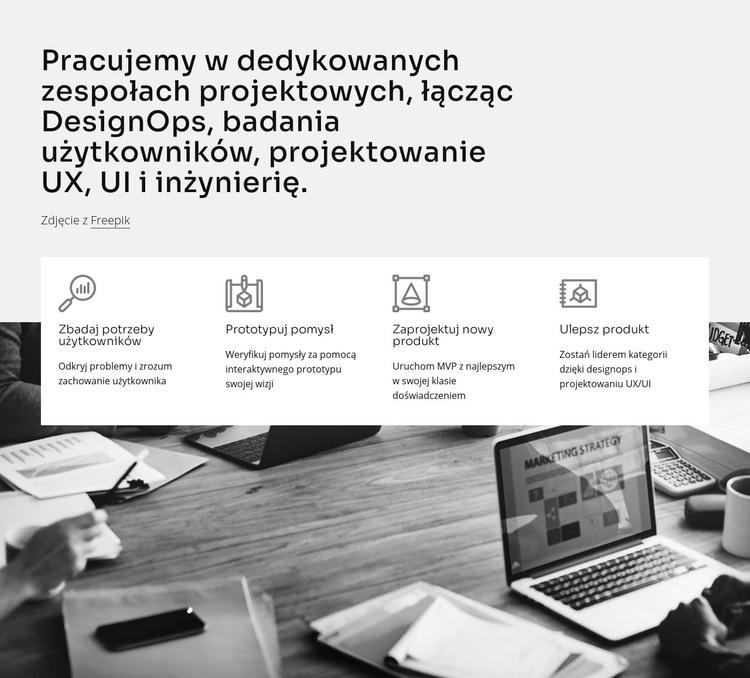 Interfejs użytkownika i inżynieria Szablon witryny sieci Web