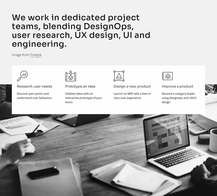 UI and engineering Website Template