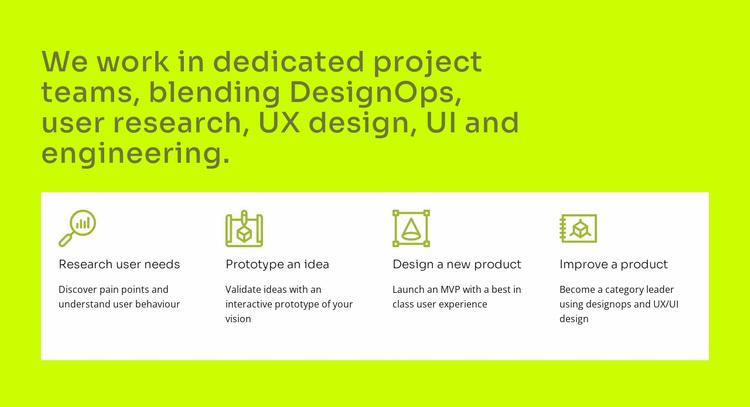 UI and UX design Website Template