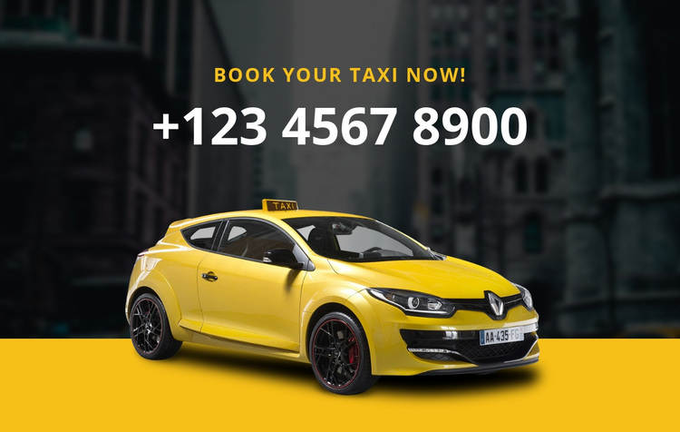 Book your taxi Joomla Page Builder