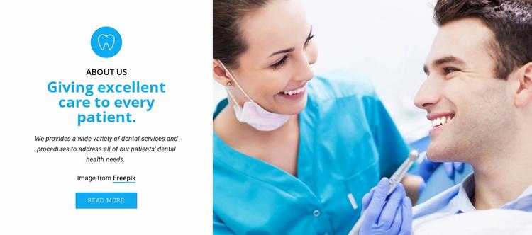 Dental care specialists Website Template