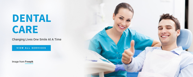 Quality dental services Website Template