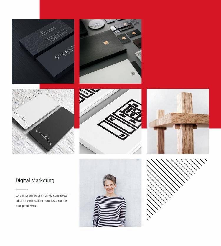 Effects advertising Website Mockup