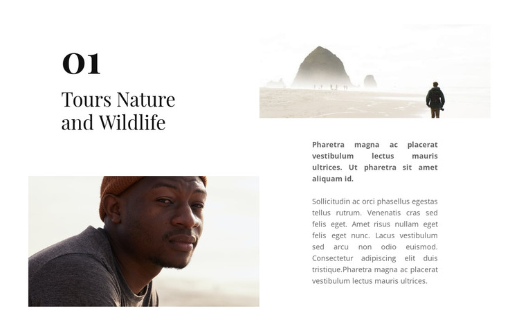 Life is full of adventure HTML Template