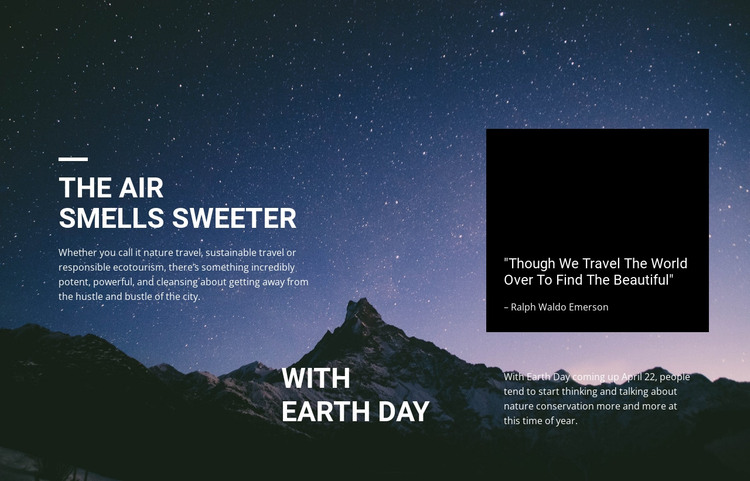 The beauty of the starry sky HTML Template