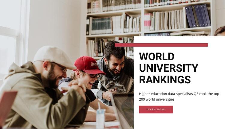 World university rankings  Joomla Template
