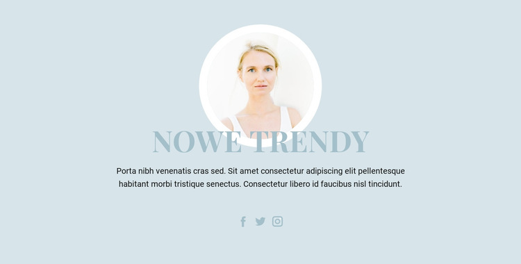 Trendy w branży kosmetycznej Szablon witryny sieci Web