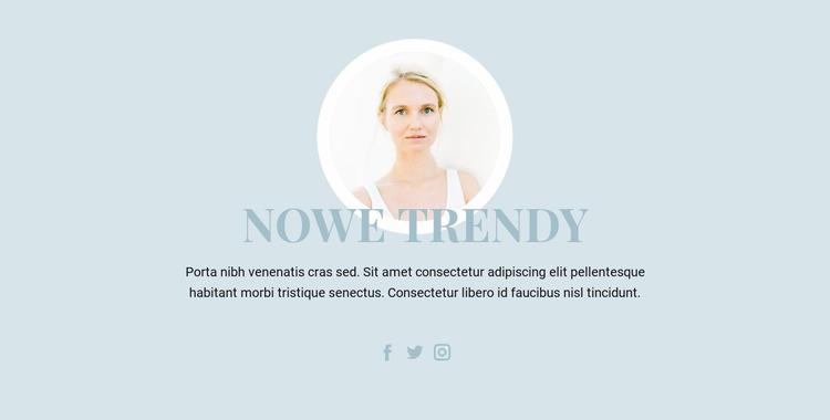 Trendy w branży kosmetycznej Szablon Joomla