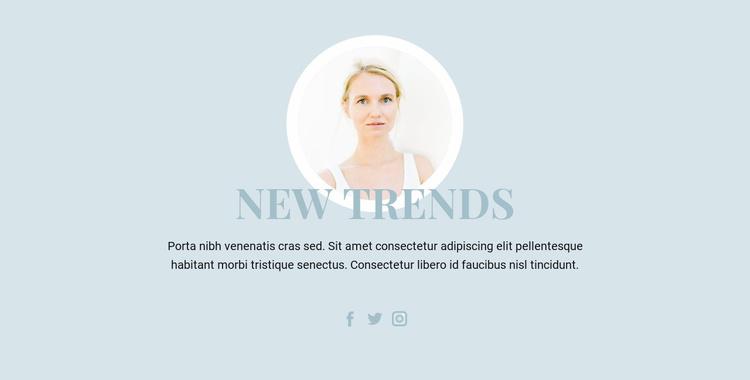 Beauty Industry Trends Website Template