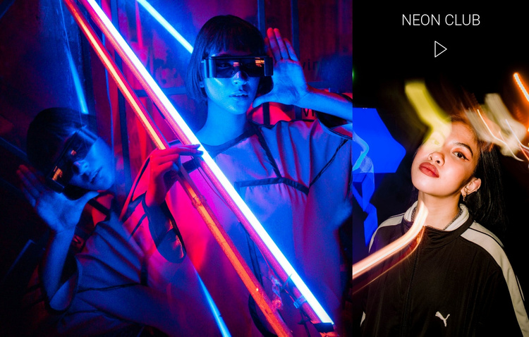 Neon club and entertainment Website Template