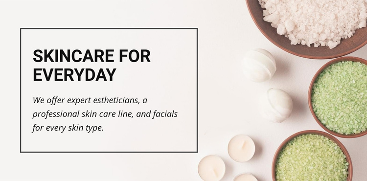 Skincare for everyday  Website Template