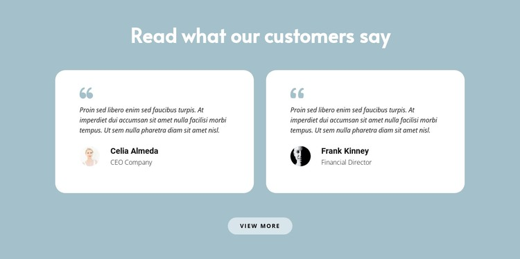 Two reviews about us CSS Template