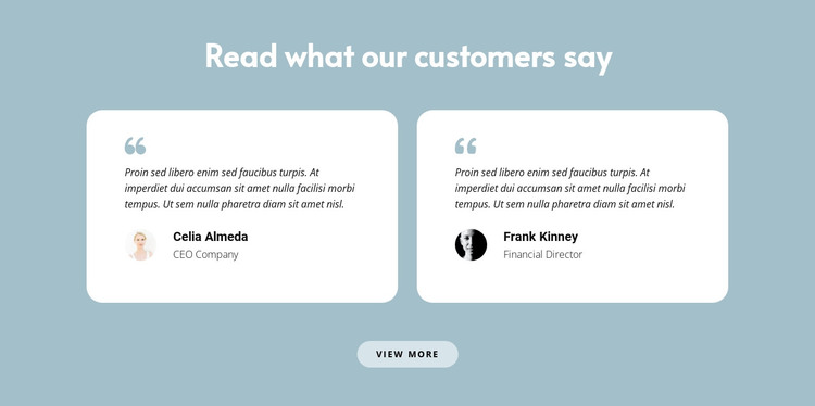 Two reviews about us HTML Template