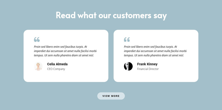 Two reviews about us Web Design
