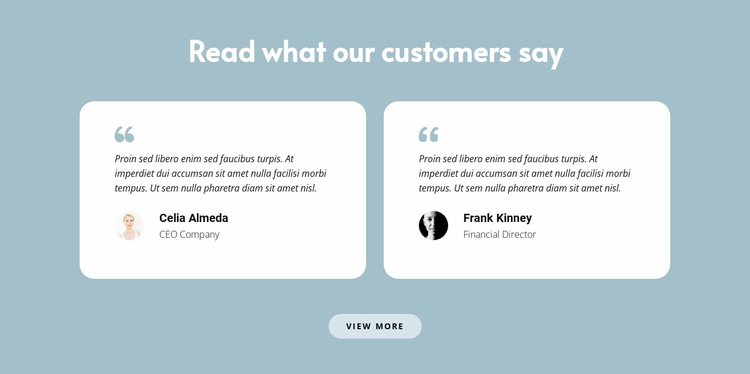 Two reviews about us Website Builder Templates