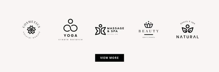 Five logos Website Mockup