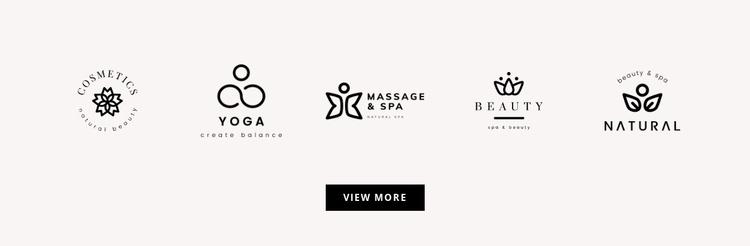 Five logos Website Template