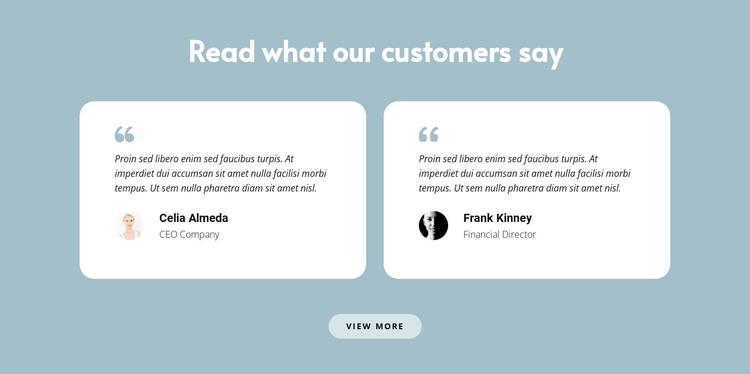 Two reviews about us WordPress Theme
