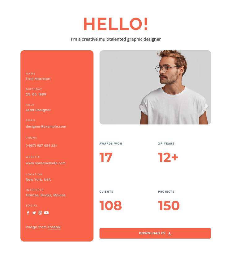 Multitalented designer HTML5 Template