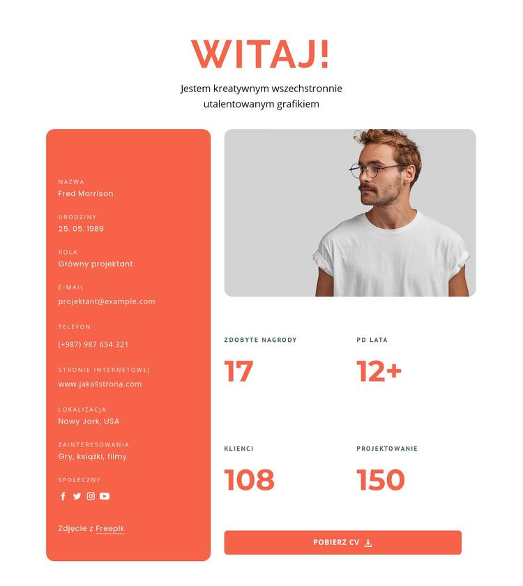 Wszechstronny projektant Szablon witryny sieci Web