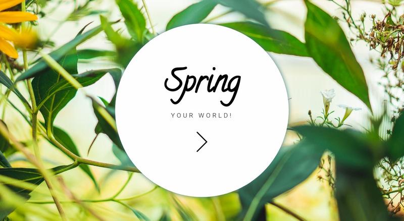 Spring your world  Web Page Designer