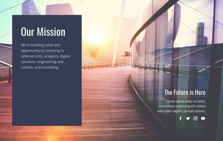 Our future mission  Homepage Design