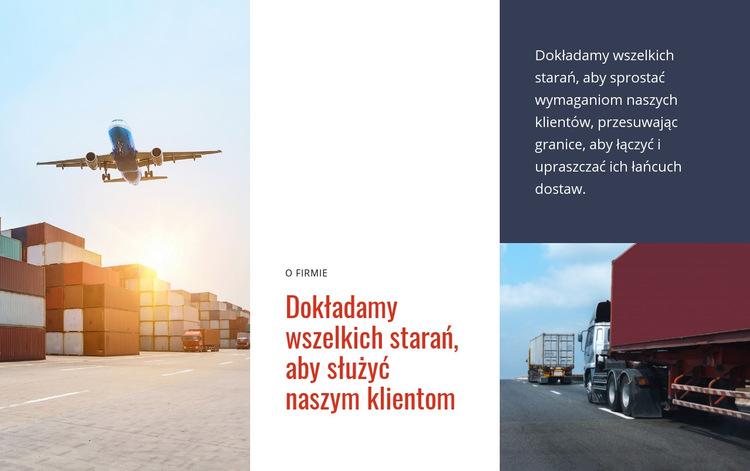 Logistyka i transport Szablon witryny sieci Web
