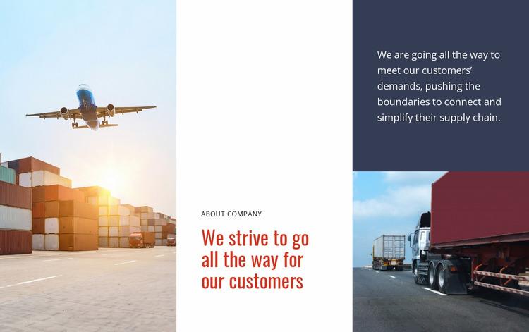 Logistics and Transportation Website Mockup