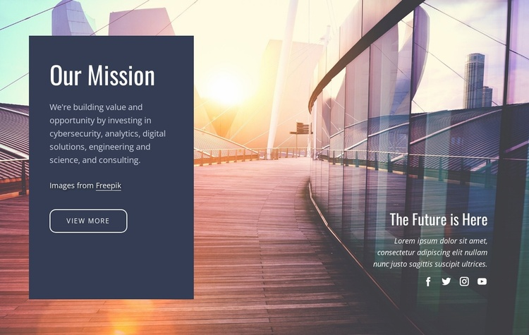 Our future mission  Website Template