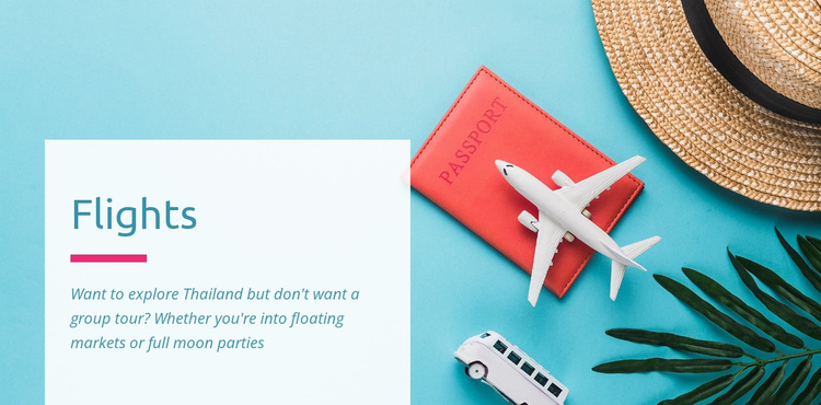 Flights, cars and hotels Website Template