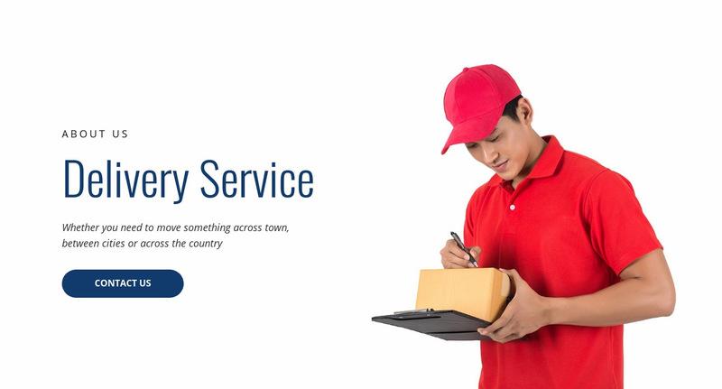 Delivery service  Web Page Designer