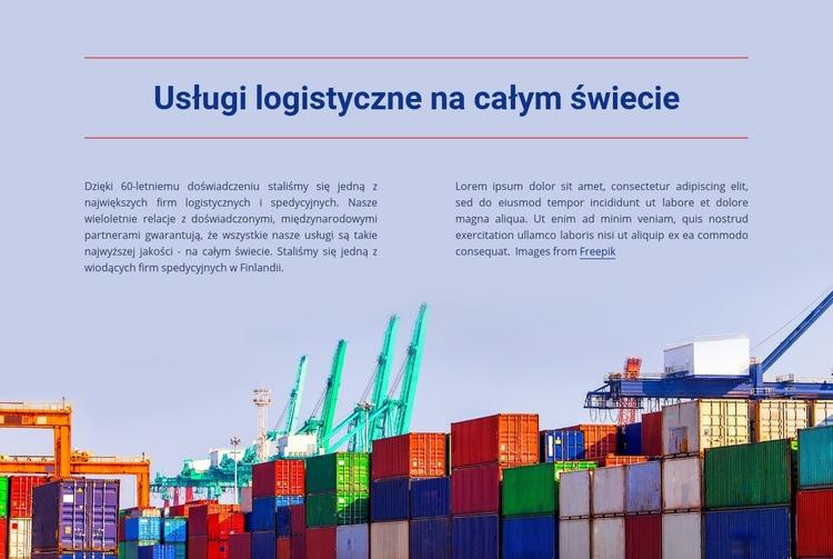 Usługi logistyczne na całym świecie Szablon Joomla