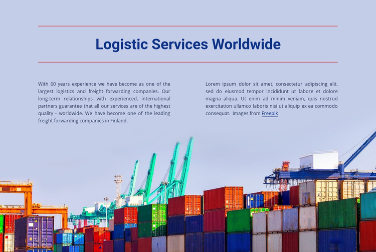 Logistic Services全球网站Builder软件