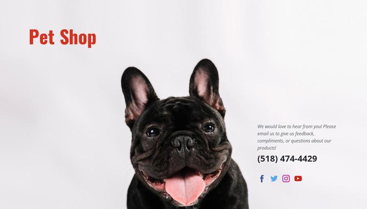Specialty shop Website Template