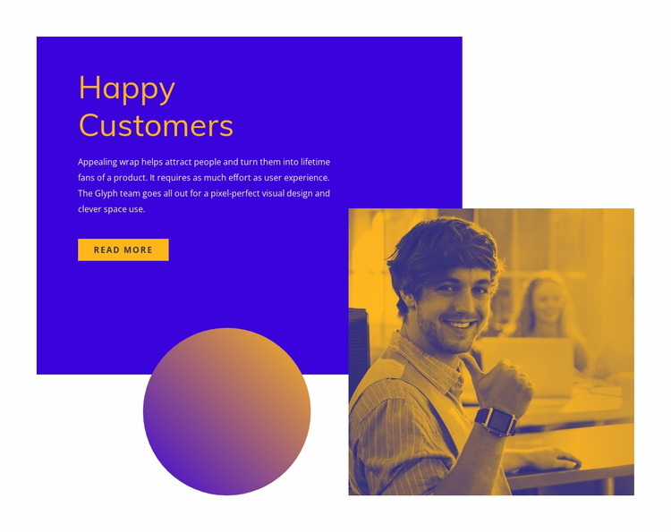 Happy and satisfied customers Html Website Builder